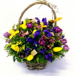 Basket with iris