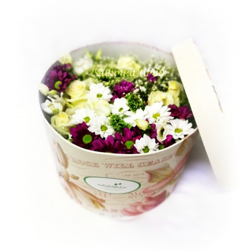Box with flowers k15